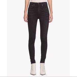 Rag & Bone Black High Rise Vintage Skinny Jeans 27
